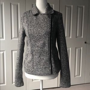 NWOT Banana Republic Heather Side Zip Jacket - S